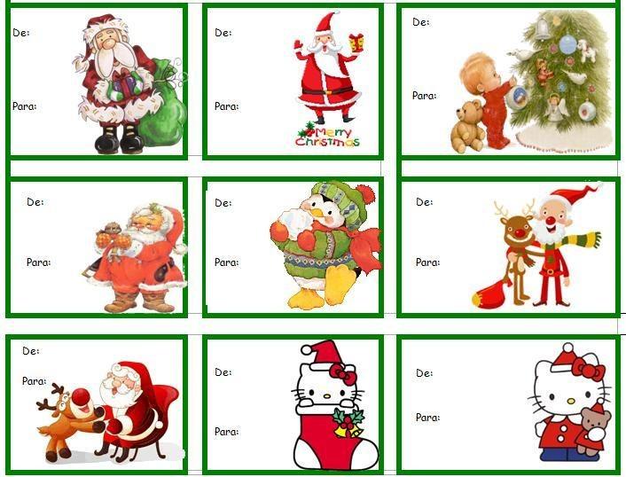 Etiquetas para poner en los regalos de navidad premios ripley